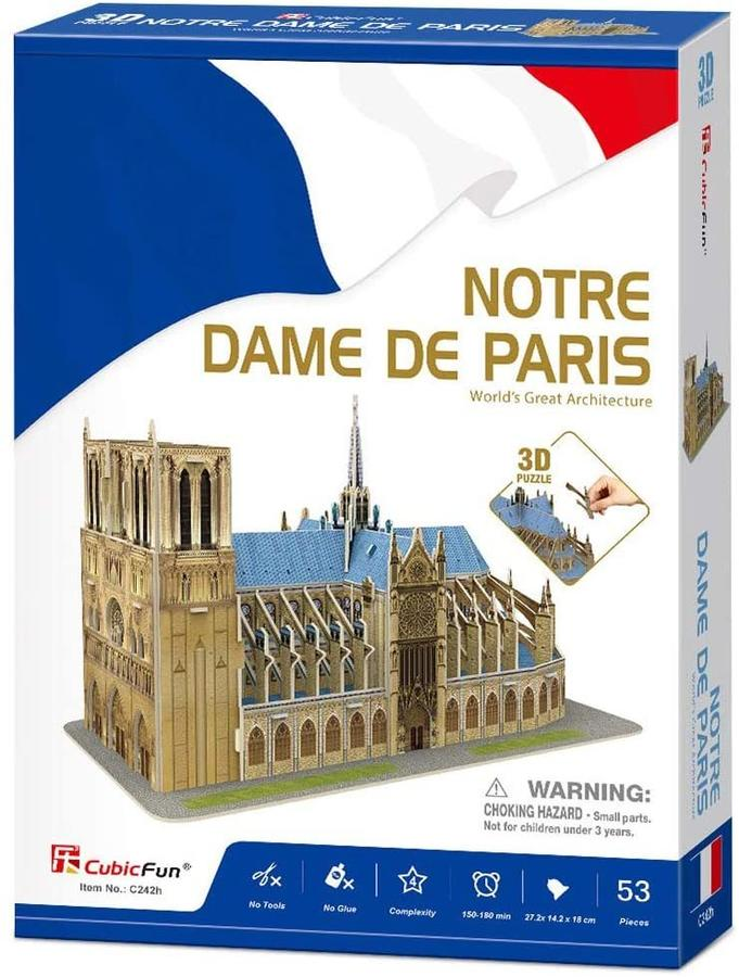 Puzzle 3D Katedra Notre Dame - CubicFun C242H - 8+ anni