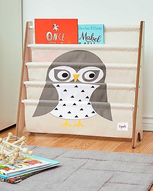 Libreria Frontale Montessoriana per Bambini - Gufo Grigio
