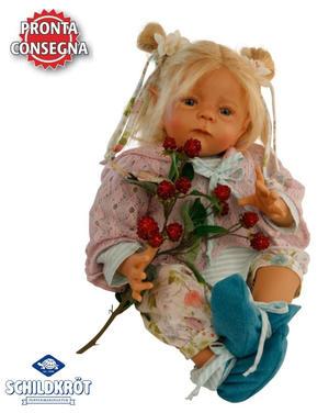Bambola da Collezione in Vinile Elfiene di Karola Wegerich Alta cm 52 di Schildkrot Qualità Made in Germany