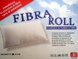 Guanciale Fibra Roll in Piumino di Fibra
