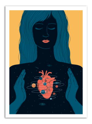 HEART - Universe Inside Art Print