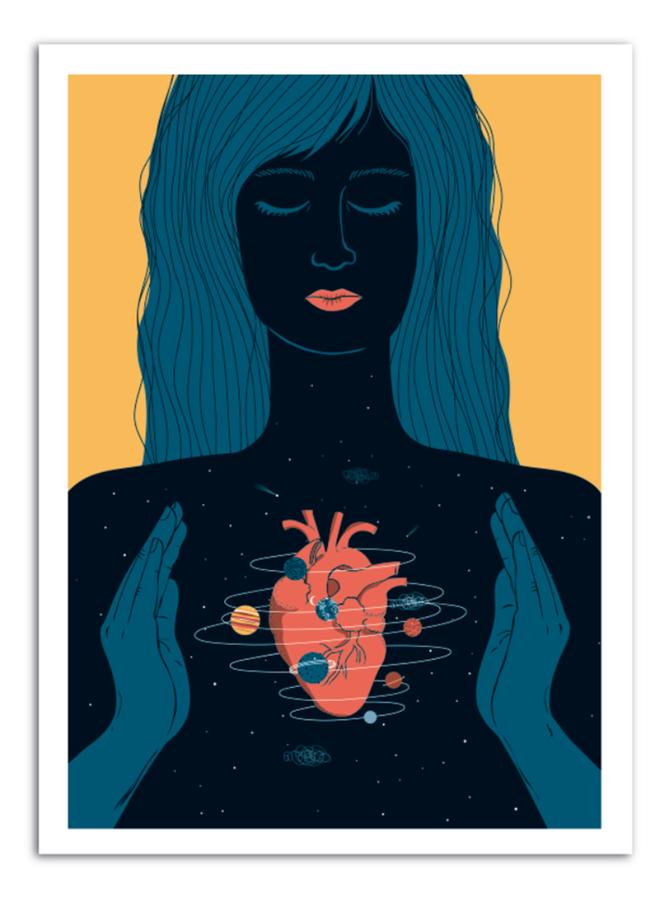 HEART - Universe Inside Art Print