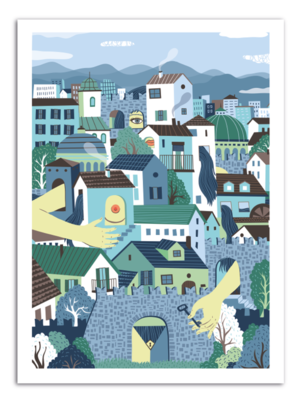 CITY - Something Hidden Art Print