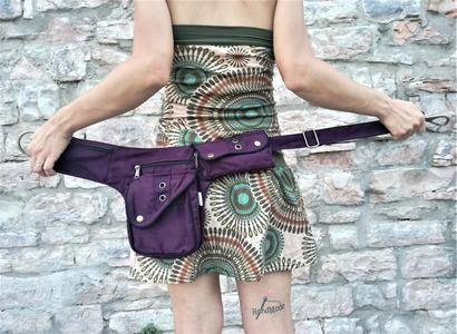 "Hip Bag  ""FLORENCE"" dark purple"