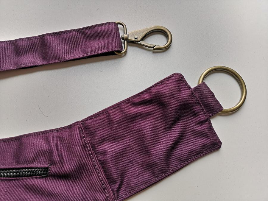 "Hip Bag  ""FLORENCE"" dark purple"