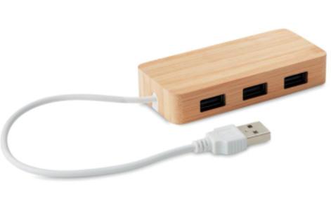 MULTI PORTA USB IN LEGNO