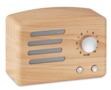 Speaker Bluetooth 4.2 in ABS effetto legno