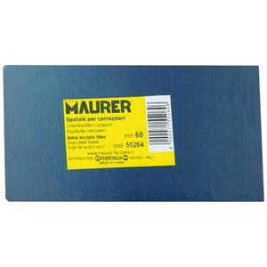 Spatola rettangolare lama blu Maurer