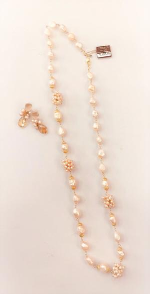 Collana Perla Barocca Rosa