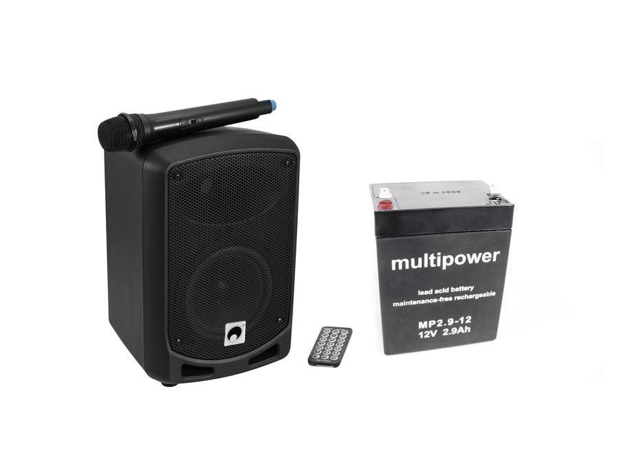CASSA PORTATILE CON RADIOMICROFONO E BLUETOOTH E LETTORE MP3 OMNITRONIC