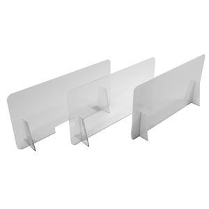 Barriera parafiato da banco in Plexiglass senza apertura - 100x50