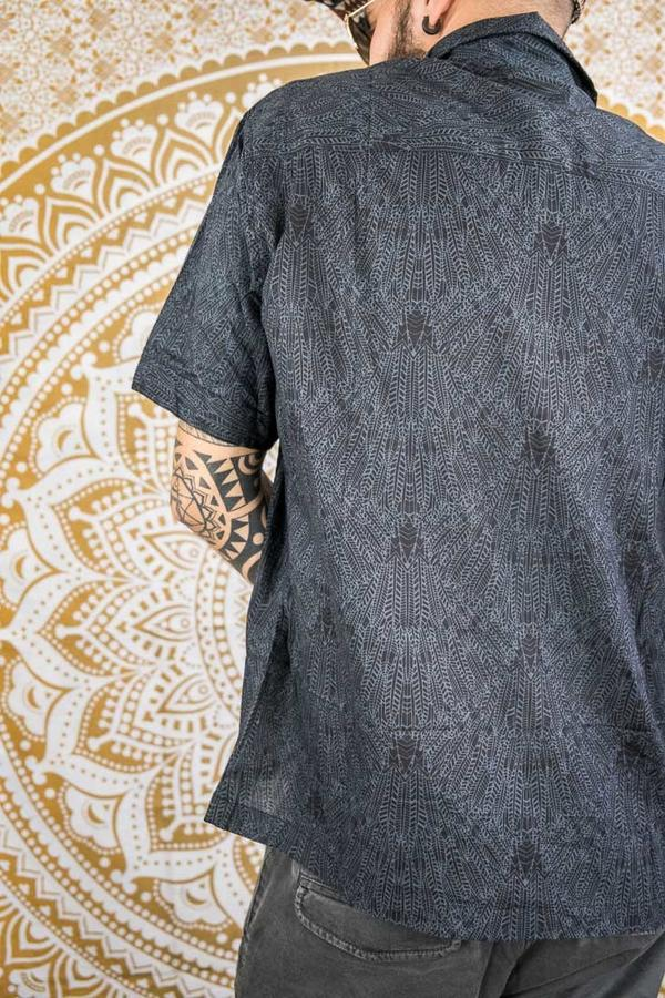 Budhil man shirt short sleeve - dark gray