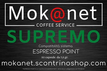 """100 CAPSULE COMPATIBILI ESPRESSO POINT """" SUPREMO"""" MOK@NET"""