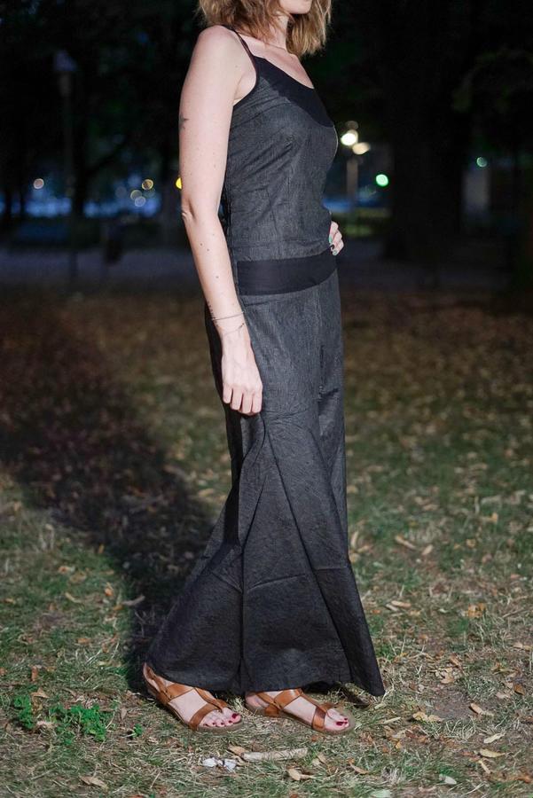 Women's long Jumpsuit Sapna - dark gray
