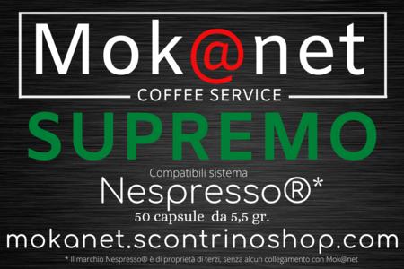 "100 CAPSULE COMPATIBILI Nespresso MOK@NET "" SUPREMO """