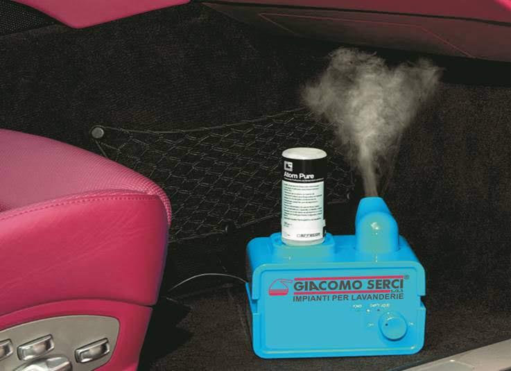 ATOM MACHINE (nebulizzatore ultrasonico con liquido purificante)
