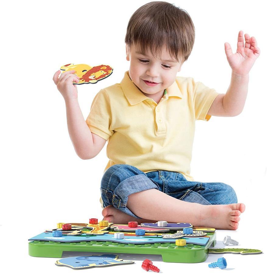 Tecno Puzzle Jungle & Savana - Quercetti 0556 - 3-5 anni