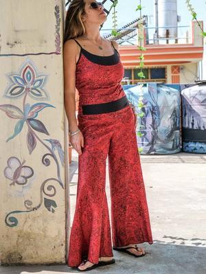 Mono largo de mujer Sapna - rojo