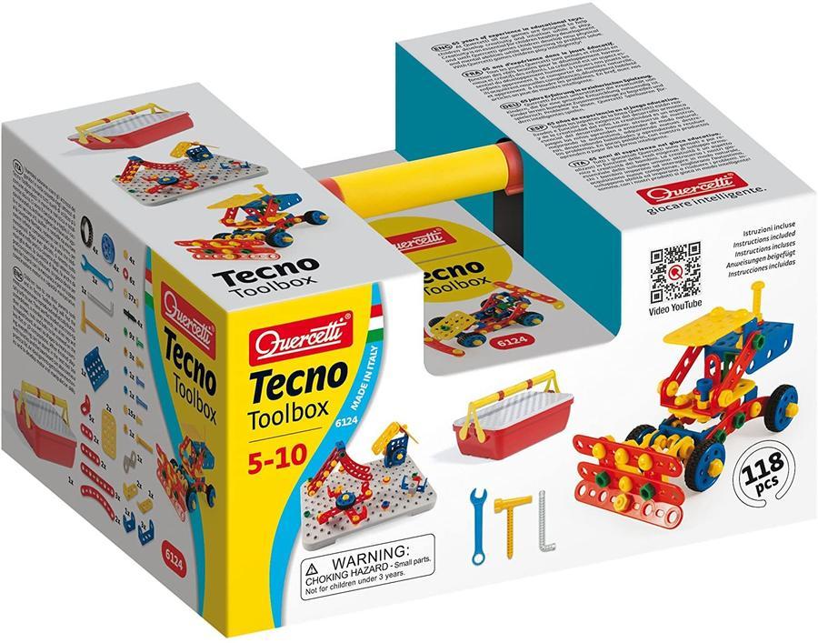 Tecno Toolbox 117 pz - Quercetti 6124 - 5-10 anni