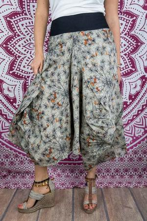 Bag long skirt Dhara - gray orange