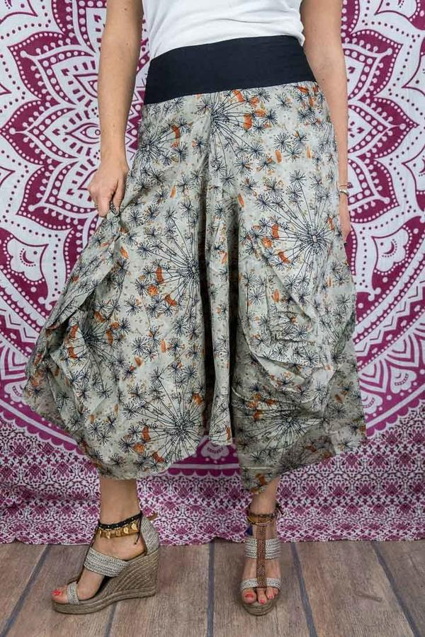 Bag long skirt Dhara - gray orange
