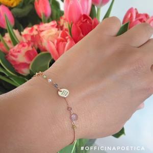 bracciale  ANDRA' TUTTO BENE _Pietre multicolore e Argento Roseè 925