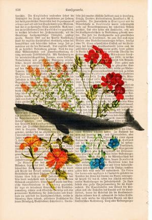 "Art On Words:""Flower Whale"""