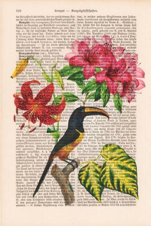 "Art On Words:""Flower Bird"""