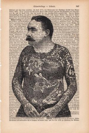 """Art On Words:""""Tattooed Man"""""""