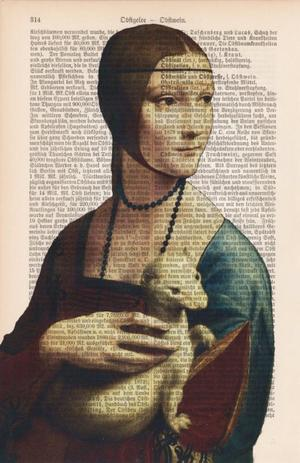 "Art On Words: Leonardo da Vinci ""Dama con ermellino"""