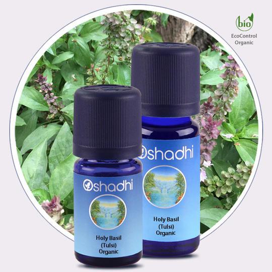 Oshadhi - Basilico santo (Tulsi) olio essenziale bio