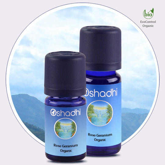 Oshadhi - Geranio rosa olio essenziale bio