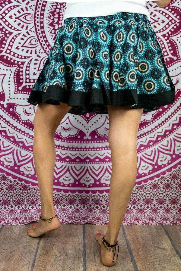 Minifalda acordeón Hita - turquesa