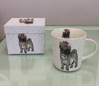 PPD TREND MUG IN PORCELLANA con scatola decorata: LILLY