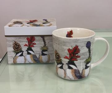 PPD TREND MUG IN PORCELLANA con scatola decorata: THE CHICKADEEE SISTER