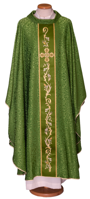 Chasuble with stolon, acetate viscose