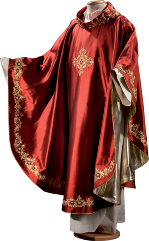 Hand embroidered chasuble
