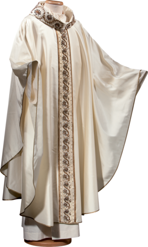 100% silk chasuble Cod. 65/BR0002