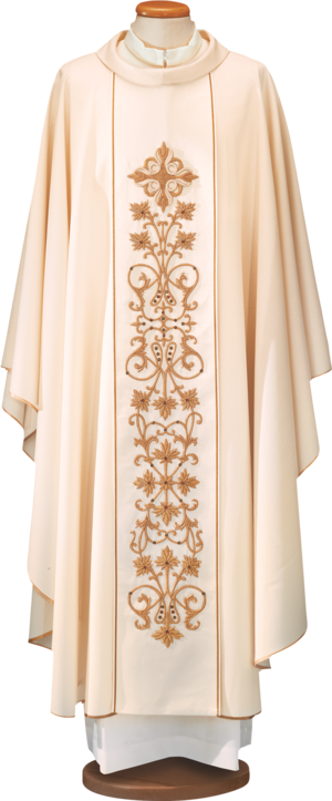 100% wool chasuble with silk stolon