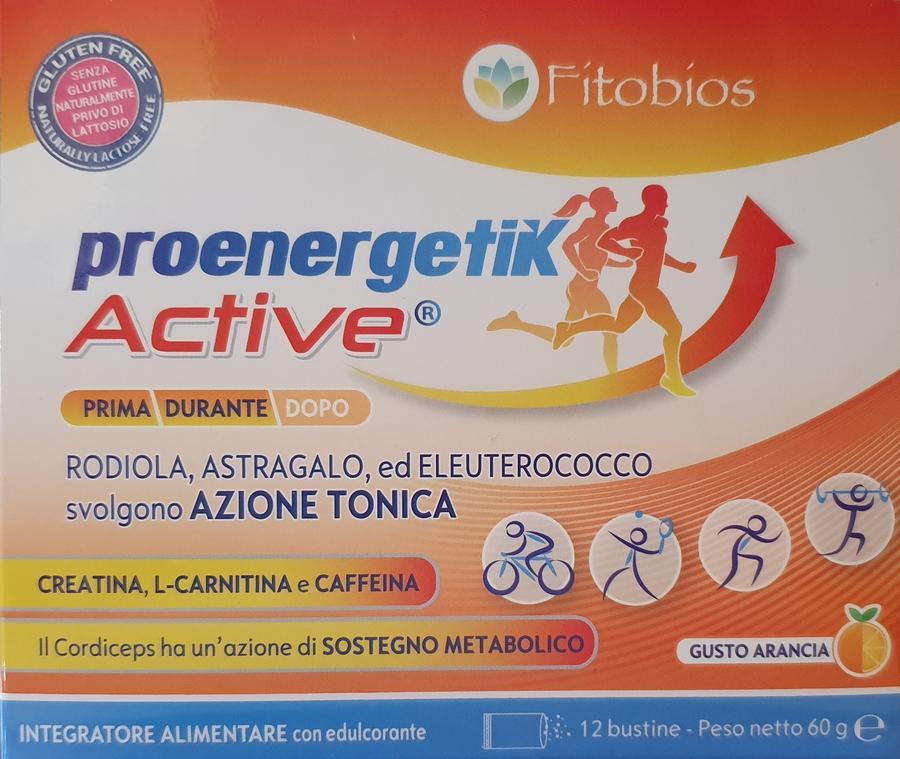 PROENERGETIK ACTIVE - Energizzante, anti-fatica - 12 bustine da 5g gusto arancio