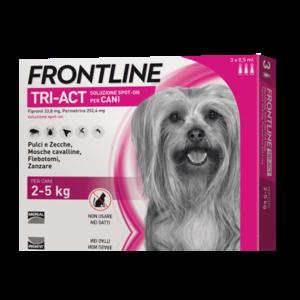 Frontline Triact Per Cani 2 - 5 KG Pipette Antiparassitario Repellente Zecche Pulci