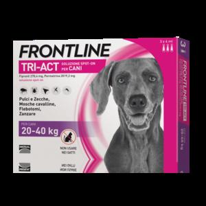 Frontline Triact Per Cani 20-40KG Pipette Antiparassitario Repellente Zecche Pulci