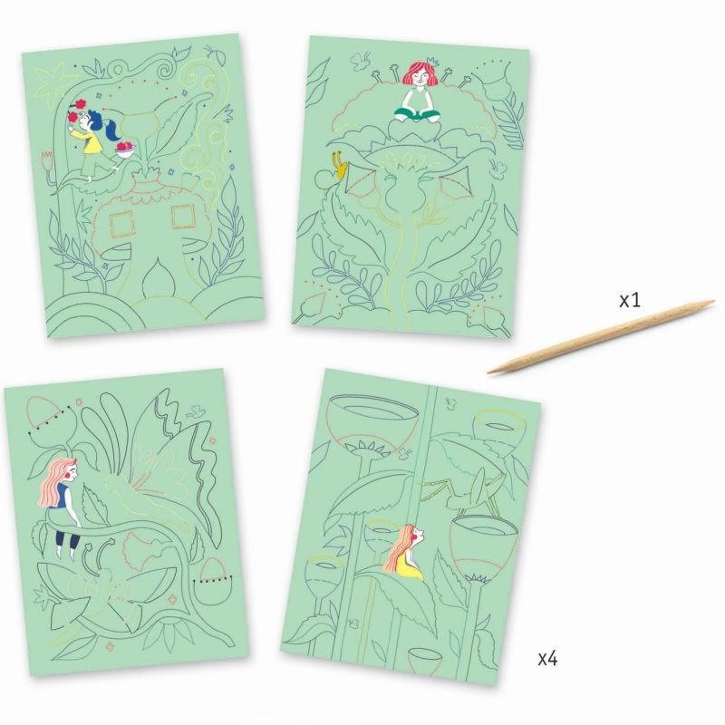 Carte da grattare Giardino fantastico