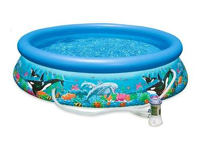 Piscina Easy Oceano Diam. 305 x h 76 cm 28126 con Pompa Filtro Intex