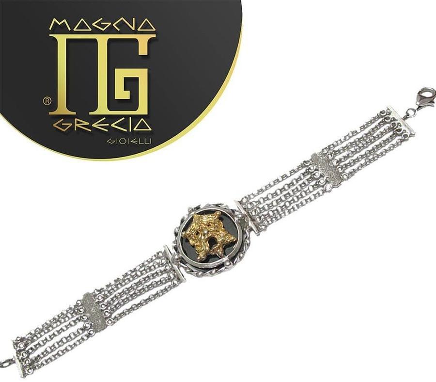 Bracciale con maschera Magna Grecia Gioielli