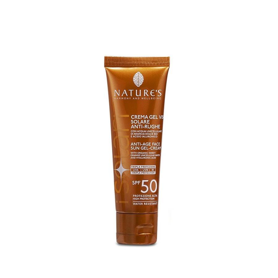 Crema-gel viso Solare Antirughe SPF50 50ml