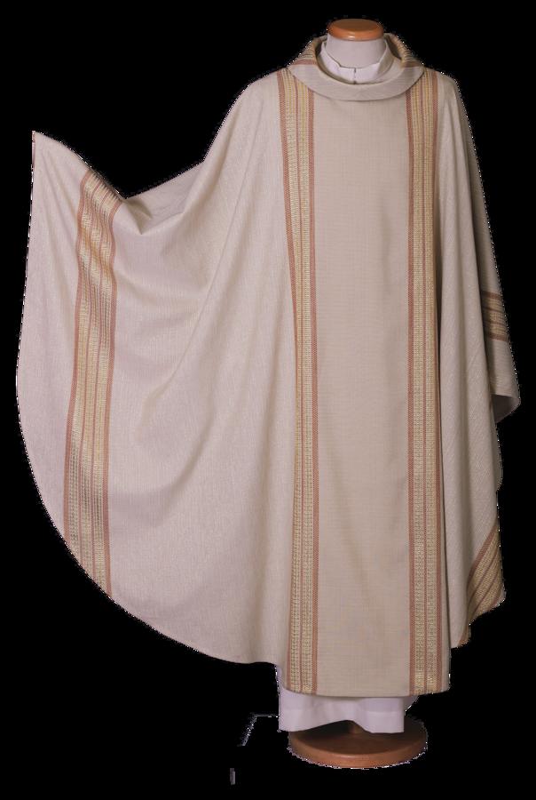 Casula in lana lurex a tessitura jacquard