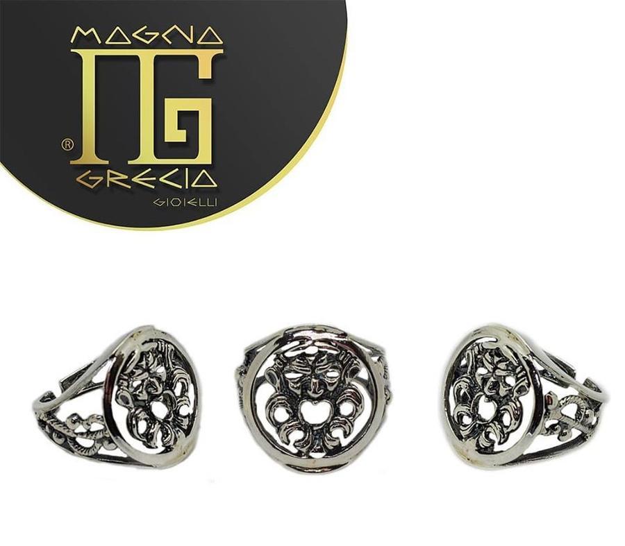 Anello maschera  Magna Grecia Gioielli