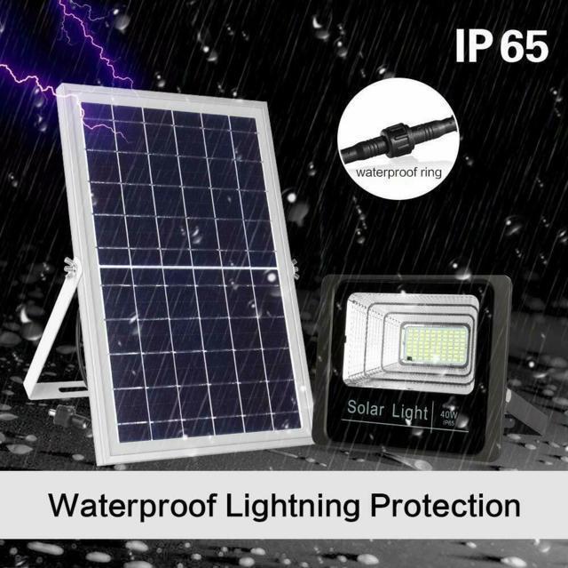Faro LED da Esterno Impermeabile con pannello solare IP67 25w