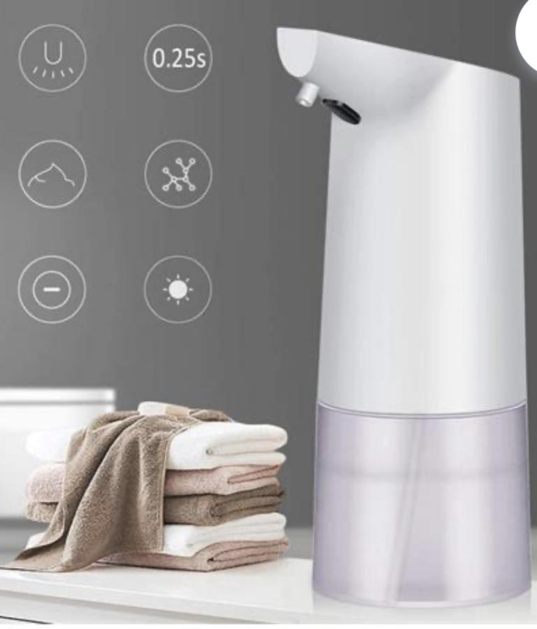 Dispenser Di Sapone Automatico, Distributore Di Sapone Schiumogeno Con Sensore A Infrarossi Senza Contatto Impermeabile Per Bagno Cucina 350ml